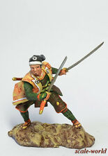 Tin soldier, figure. Samurai in cape dzinbaori 54 mm