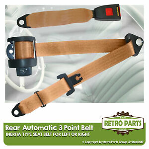 Rear Automatic Seat Belt For Nissan Cherry Hatchback 1971-1979 Beige