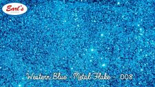"50g Western Blue metal flake paint standard size 0.008"" metalflake glitter"
