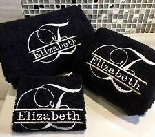 Monogram Towels, Script Border Mono, Personalised Towels/ Quality 500gms towels