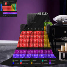 Periodic Table of Elements Print Throw Blanket Soft Cozy Warmth Fleece Blankets