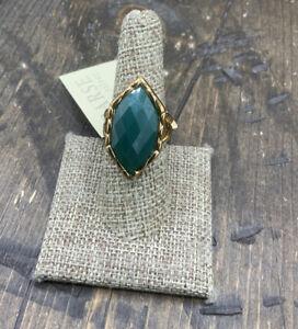 Barse Kinetic Ring-Green Onyx- Bronze- 8-NWT