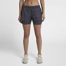Women's Nike Elevate 2-in-1 Running Shorts Gridiron Size SMALL AJ4197 081 NWT