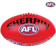 AFL Leather Replica Game Ball - Size 5 - In Red From Sherrin