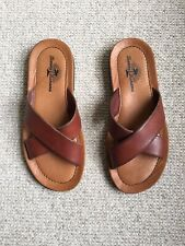 TOMMY BAHAMA LEATHER SANDALS - MADE IN ITALY - 8
