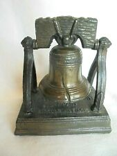 Vintage McGrath Sand & Gravel Co Lincoln Il Metal Advertising Liberty Bell Bank