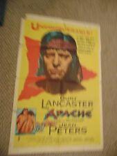 "Burt Lancaster Apache Original 27x41"" Poster #L9565"