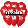 40th Birthday Balloons Pack 10 Accessories Decorations Party Props Men Women