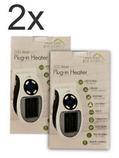 2x 500W 220V Mini Heater UK Plug-in Electric Wall-outlet Space Handy Fast Heater