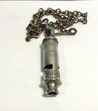 More details for antique  whistle 'the metropolitan' london city police  j. hudson with chain