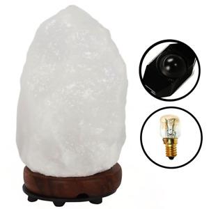 4-5 KG SALT LAMP, 100% Natural Rare White Himalayan Rock Salt Lamp with UK Plug