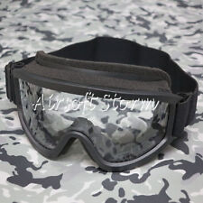 Airsoft SWAT Tactical X500 Goggle Glasses GX2000 Black Frame Clear Lens