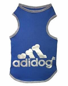 Dog T Shirt ADIDOG Clothes Shirts Summer Tank Top Vest Sweat Shirt Small Large