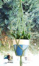 Macrame Plant Hanger 30in Vintage ** Green **