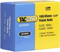 "Tacwise 16g 45mm 1 3/4"" Finish Nail 2500pcs 59021"
