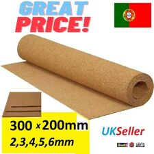 More details for 1-12pcs cork sheet 2,3,4,5,6mm thick rolls landscape mats model railways 300x200