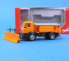 Herpa H0 149785 MAN L2000 M Winterdienst Kommunal LKW Orange OVP HO 1:87