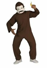 Curious George Adult Licensed Costume 2 Pc Br Jumpsuit & Headpiece M/L