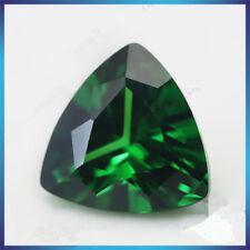 9x9mm 4.21ct Natural MINED Green Emerald Gems Trillion Cut VVS AAA Loose Gems