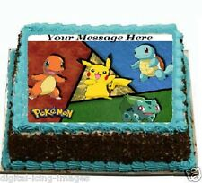 Pokemon Go Cake topper edible image icing party birthday REAL FONDANT