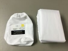 New Mainstays Soft Brushed Microfiber Bedskirt Full/Queen Artic White #217U