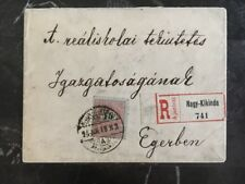 1918 Nagy-kikinda To Egerben Hungary Internal Register Cover