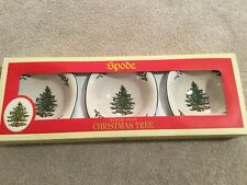 """SPODE Christmas Tree 3 Dip Dishes. THREE 5"""" x 1.5"""" Dishes. NEW."""