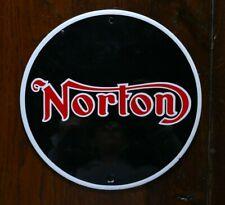 Plaque ronde Norton - Plaque émaillée ? - 365 grammes et 20 cm de diamètre