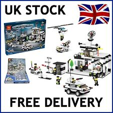 POLICE CITY STATION BUILDING BLOCK BRICKS EDUCATIONAL CREATOR COMPATIBLE 890 PCS