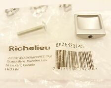 Satin Chrome 1 Inch Square Cabinet Knob From the Expression Collection
