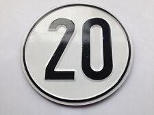 Geschwindigkeitsschild Schild Stahlblech für Anhänger Taktoren Oldtimer 20 KM/H