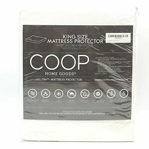 Coop Home Goods King Bed Mattress Protector Soft and Noiseless Waterproof