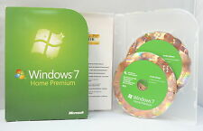 Microsoft Windows 7 Home Premium - Retail/Box-Vollversion mit DVD - 32+64 Bit -