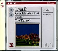DVORAK.COMPLETE PIANO TRIOS.BEAUX ART TRIO.PHILIPS 2 CD.FREE UK P&P