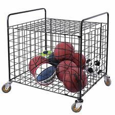 Metal Rolling Multi Sports Ball Storage Basketball, Football Equipment Cart