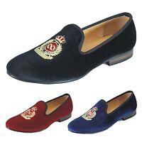 Handmade Men Velvet Slippers Loafers Slip on Dress Shoes Wedding Men's Flats New