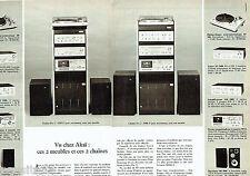PUBLICITE ADVERTISING 036 1978  Akai  chaine-hi pro 1 & 2  (2p)