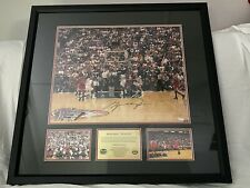 MICHAEL JORDAN UPPER DECK SIGNED LAST DANCE SHOT PRINT PROFESSIONALLY FRAMED 23