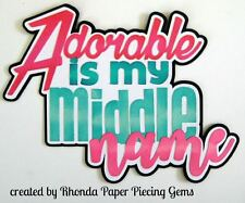 ADORABLE GIRL paper piecing title Premade Scrapbook Pages die cut by Rhonda