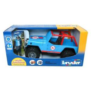 1/16 Blue Jeep Cross Country Racer W/ Driver By Bruder 2541
