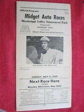 MAY 15, 1949 MIDGET AUTO RACES PROGRAM DAVENPORT IOWA FAIRGROUNDS