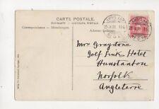 SUISSE 25 Sep 1908 104 No.20 Ambulant cachet 250b