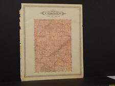 Michigan Shiawassee County Map Fairfield Township 1895 !J8#97