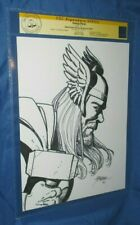 THOR CGC SS Signed/Original Art Sketch by George Perez ~AVENGERS/ GOD OF THUNDER