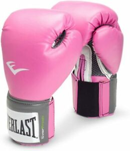 Everlast  Womens Boxing Pro Style Training Gloves - Pink 12 oz