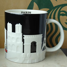 Starbucks City Mug Cup Relief Series Paris France 16oz NEW