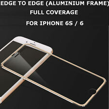 Genuine Tempered Glass Screen Protector Edge to Edge Gold for Apple iPhone 6s/6