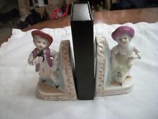 Vintage Victorian Man and Woman Book Ends - Made in Japan