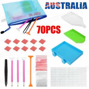 70 Piece Diamond Painting Tools Box 5D Diamond Accessories Diy Art Craft Pen Set