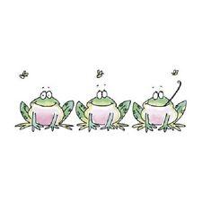 PENNY BLACK RUBBER STAMPS GREEN LINE FROG NEW frog STAMP